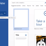 SkyDrive Integration in Office 2013