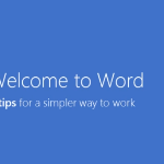 Welcome Back Funktion von Office 2013