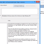 Nicht signierte Apps in Windows 8 installieren