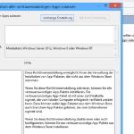 Nicht signierte Apps in Windows 8 installieren