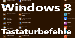 Windows 8 Tastaturbefehle