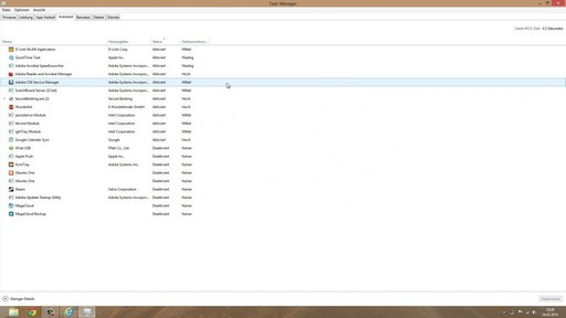 Windows 8 Autostart Taskmanager