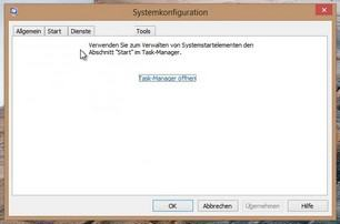 Windows 8 Autostart msconfig