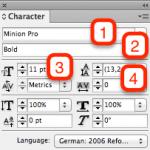 Zeichenformatierung in Adobe InDesign – Video