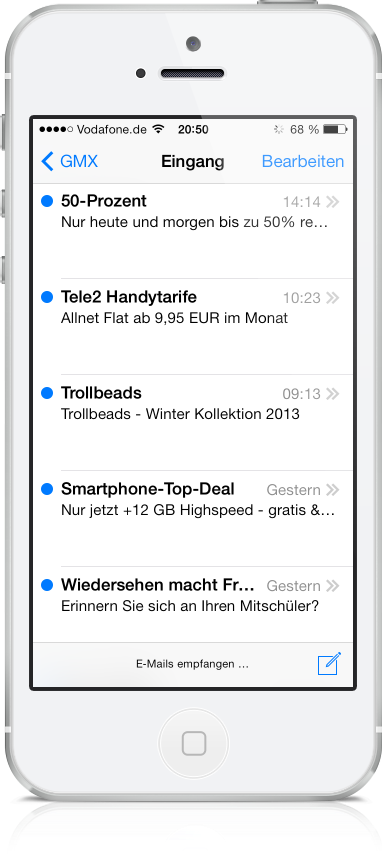 Freenet E-Mail am iPhone 09