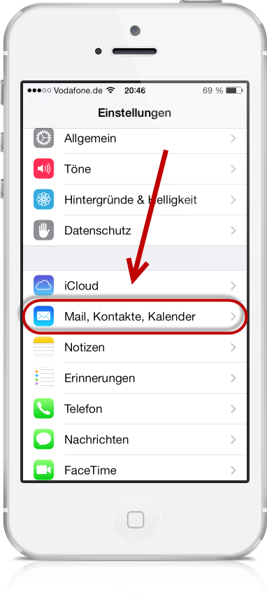 Freenet E-Mail am iPhone 02