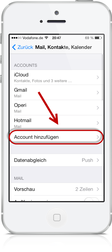 Freenet E-Mail am iPhone 03