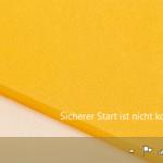 Sicherer Start unter Windows 8.1 aktivieren