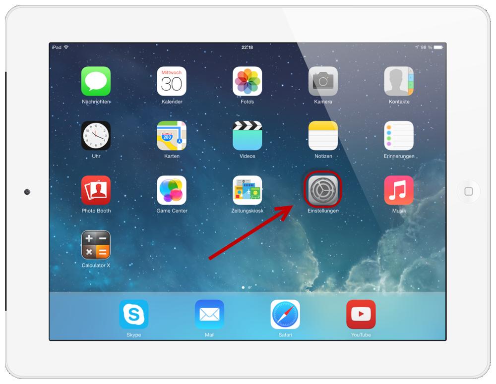 Web.de Freemail iPad 1