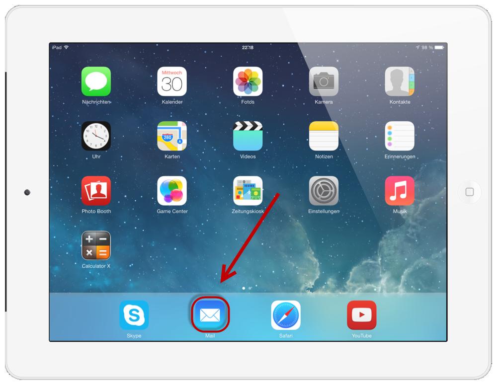 Web.de Freemail iPad 10