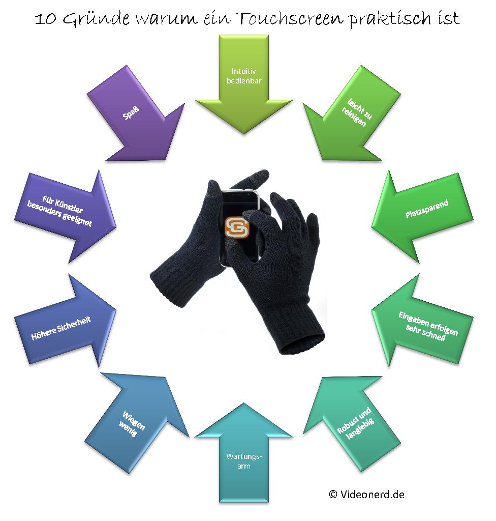 10 Gründe für Touchscreen
