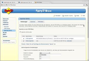 Fritzbox als NAS einrichten