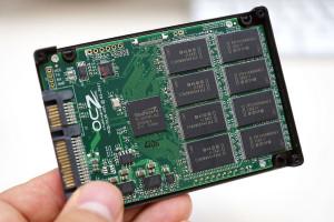 Innenleben SSD-Festplatte