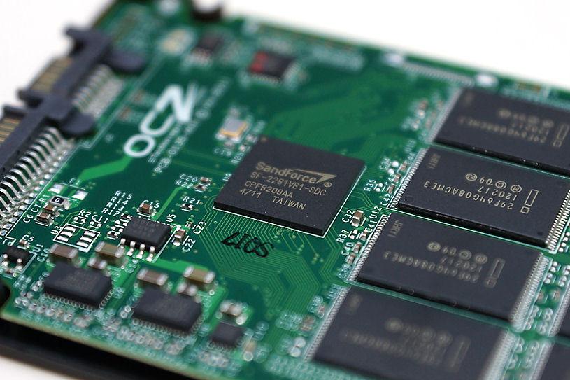 Nahaufnahme SSD-Festplatte
