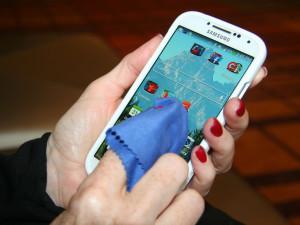 Reinigung eines Touchscreens