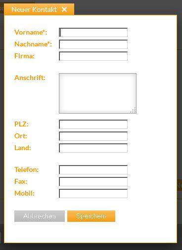 simple fax adressbuch simple fax neuen kontakt