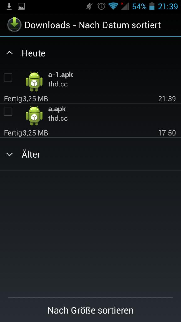 Screenshot a.apk fertig heruntergeladene
