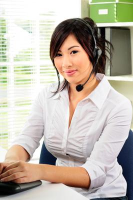 Help-Desk-Mitarbeiterin