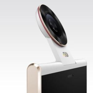 Die klappbare Kamera des Doov Nike V1 in der Nahaufnahme