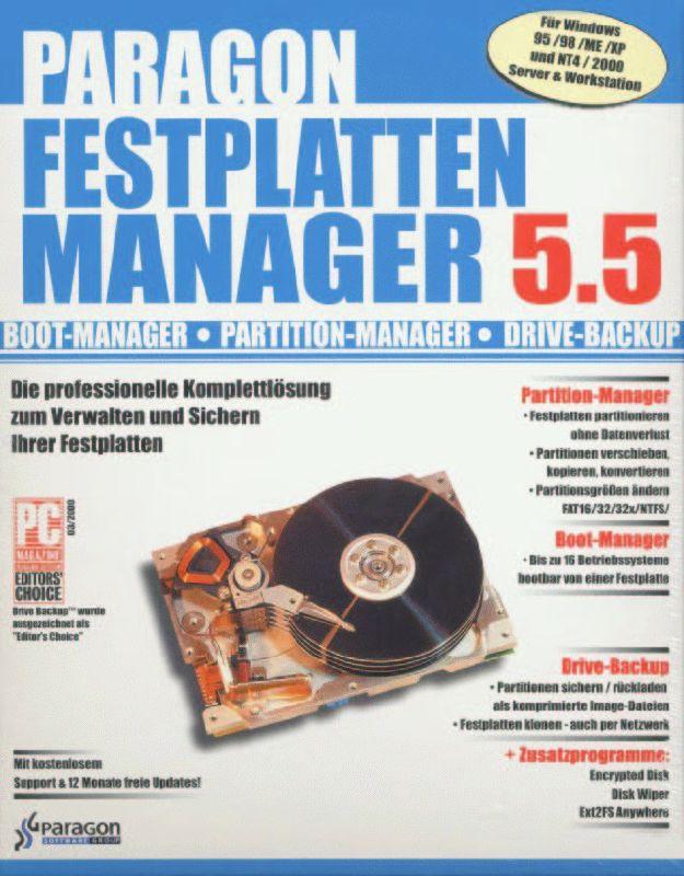 Paragon Festplatten Manager 15 Pro