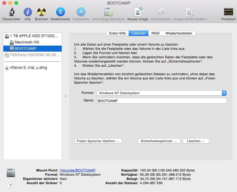 NTFS unter Mac OS X