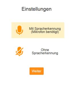 Mikrofoneinstellung für Spracherkennung Babbel