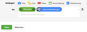 google plus teilen