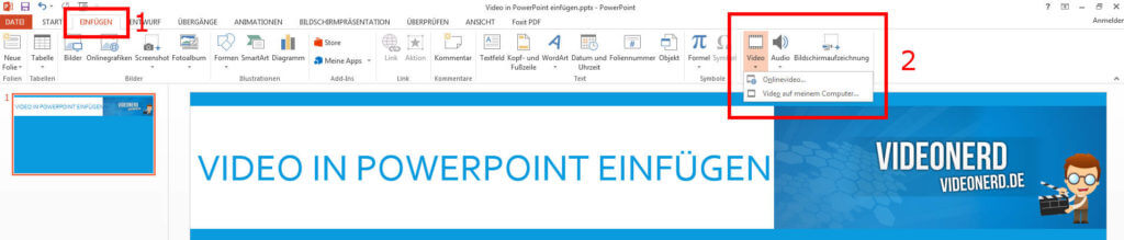 PowerPoint Video einfügen