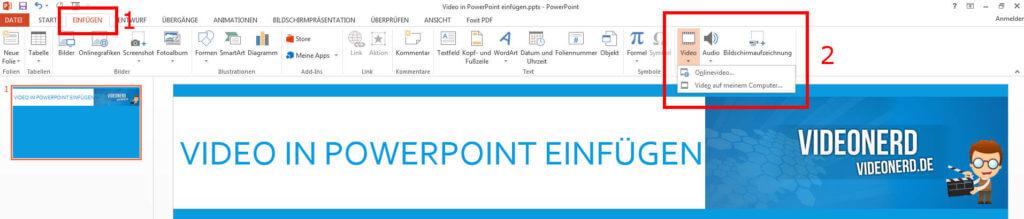 PowerPoint Video einfügen