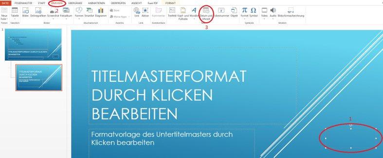 PowerPoint Datum einfügen
