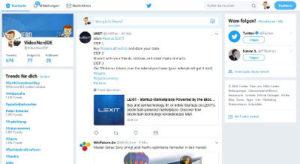 Twitter Startseite