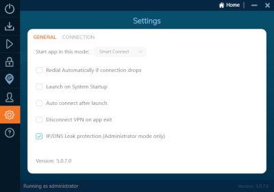 allgemeine Einstellungen Ivacy-VPN