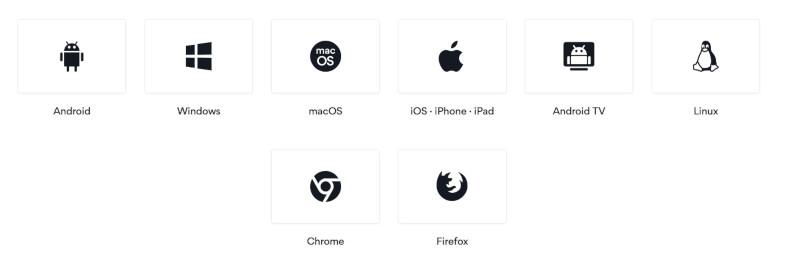 Betriebssysteme Apps NordVPN