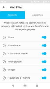 Webfilter FamiSafe