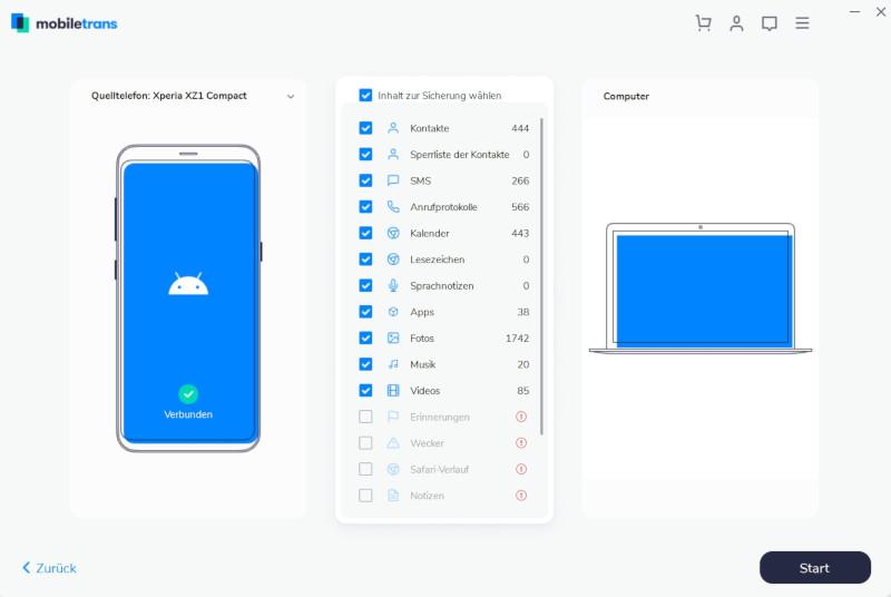 Backup vom Handy erstellen