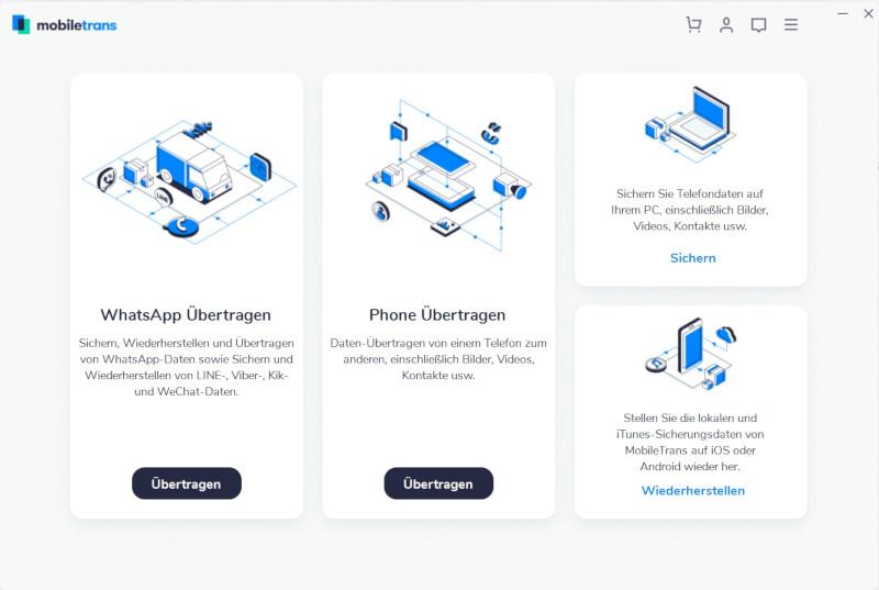 mobiletrans Startbildschirm